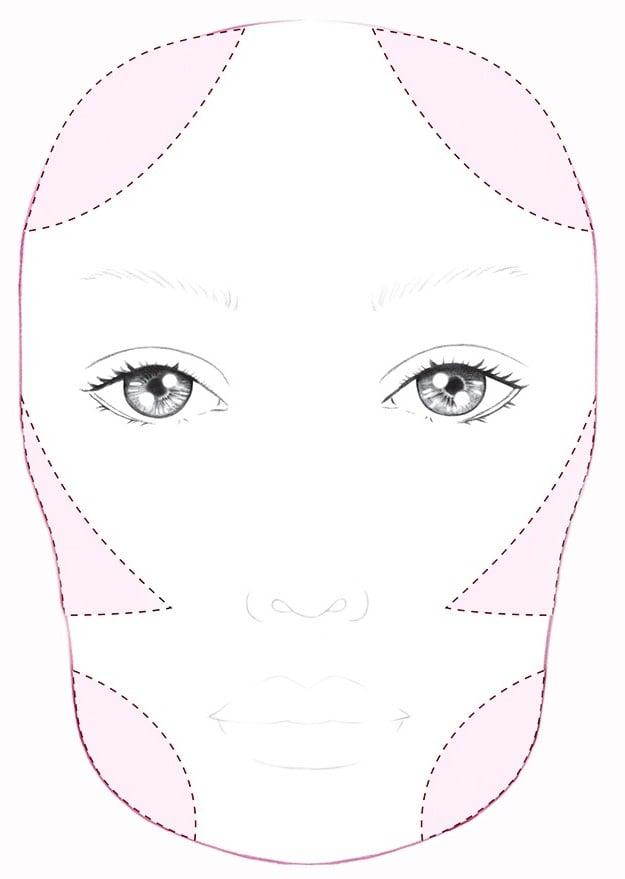 کانتور صورت مربعی