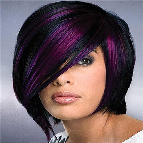 مدل موی دخترانه رنگی