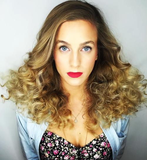 مدل مو دخترانه صاف و مجعد