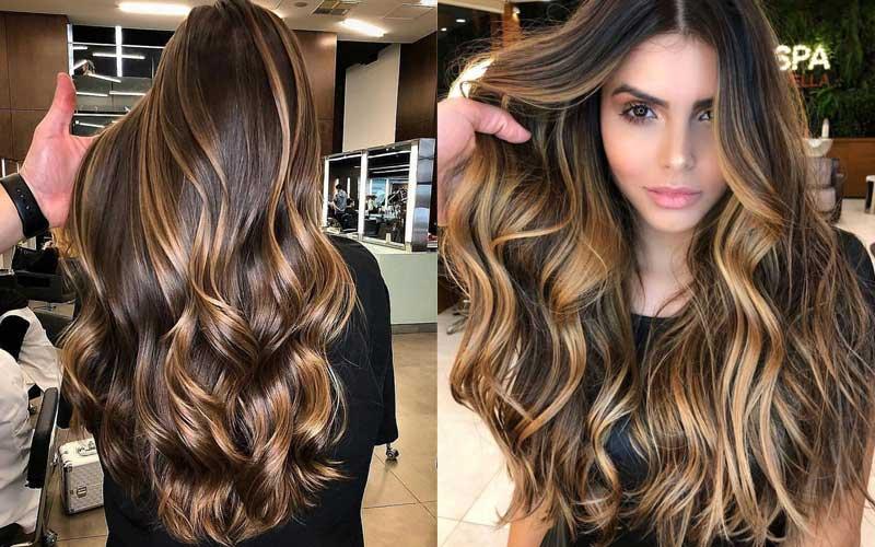 مدل مو دخترانه بلند و موج دار