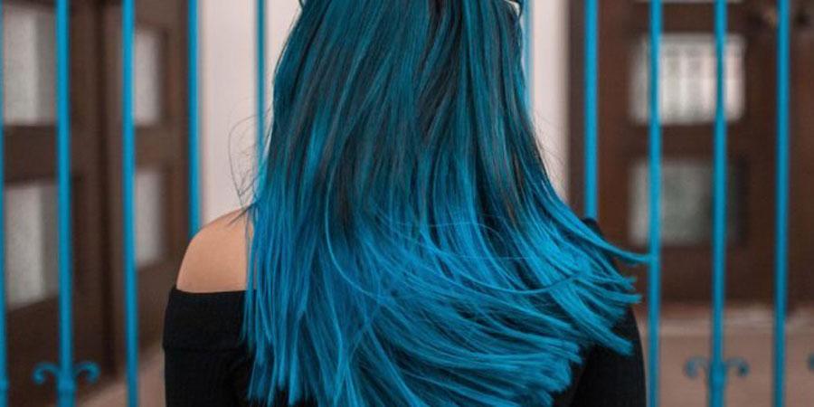مدل رنگ مو 2020 آبی کلاسیک دخترانه و زنانه