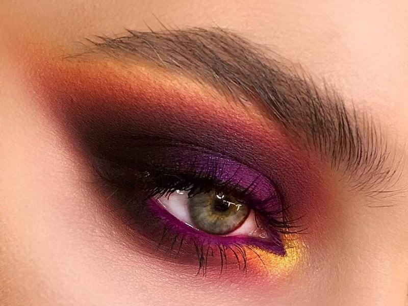 آموزش آرایش چشم و صورت پاییزی