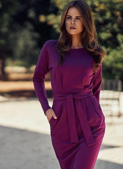 استفاده از رنگ ارغوانی در مدل لباس دخترانه 2020